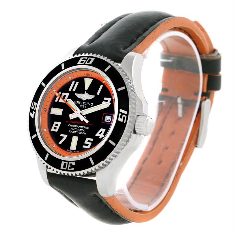 Breitling Superocean 42 Abyss Orange Limited Edition Watch A17364 SwissWatchExpo