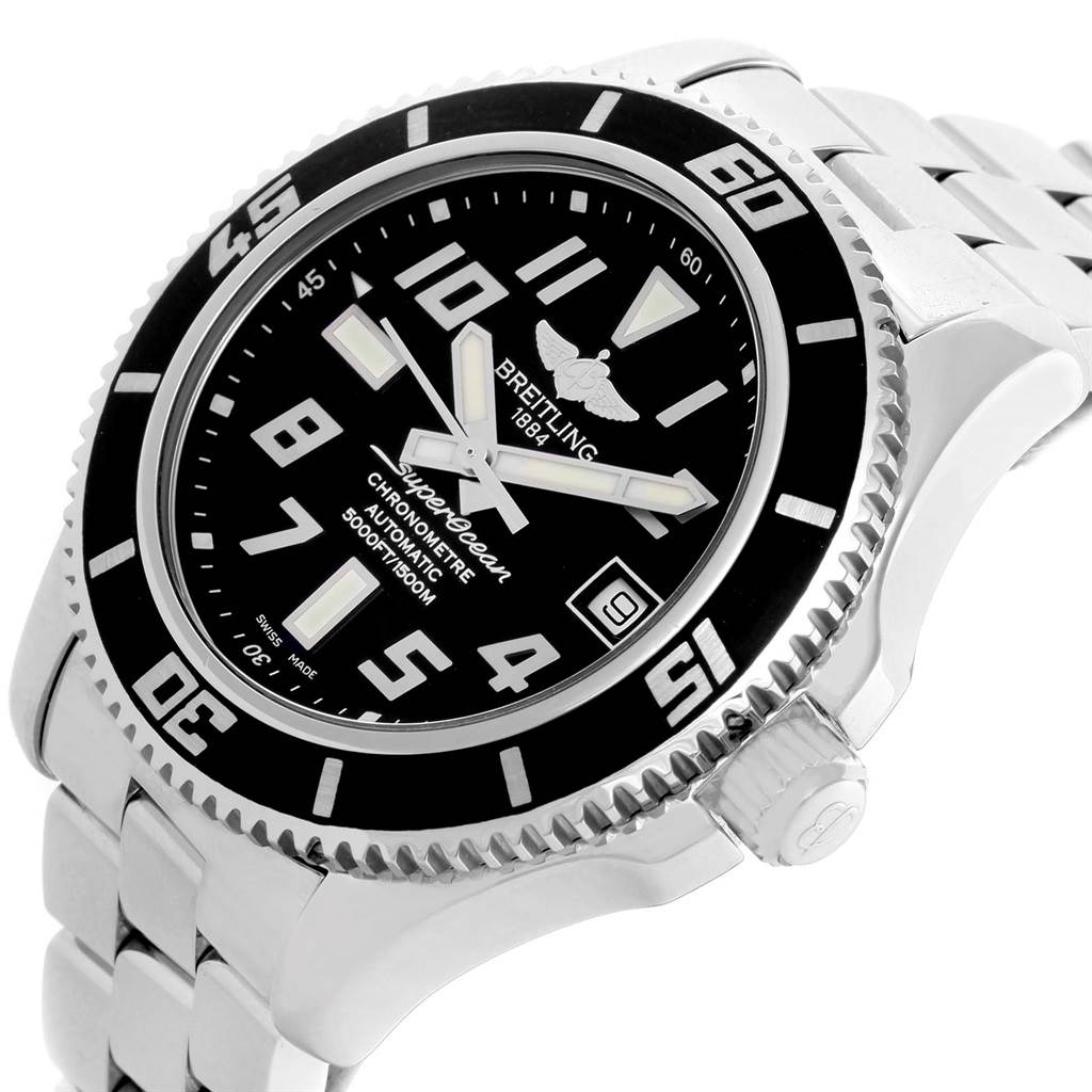 Breitling Superocean 42 Abyss Black Dial Automatic Mens Watch A17364 SwissWatchExpo