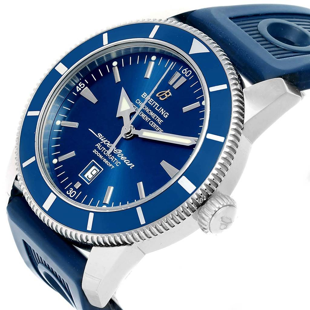 Breitling Superocean Heritage 46 Blue Dial Mens Watch A17320 Box Papers SwissWatchExpo