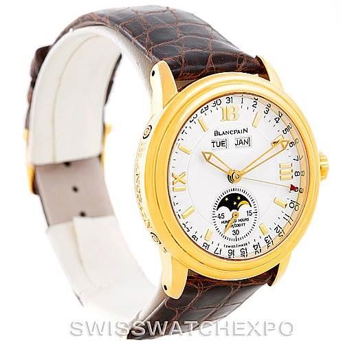 Blancpain 18K Yellow Gold Complete Calendar Watch 2763-1418A-53 SwissWatchExpo